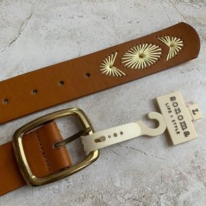 SONOMA Boho Western Embroidered Vegan Leather Belt